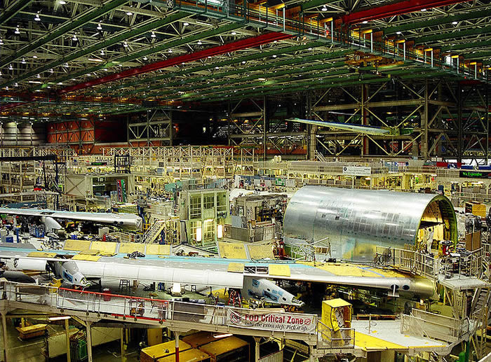 boeing 747 factory in washington