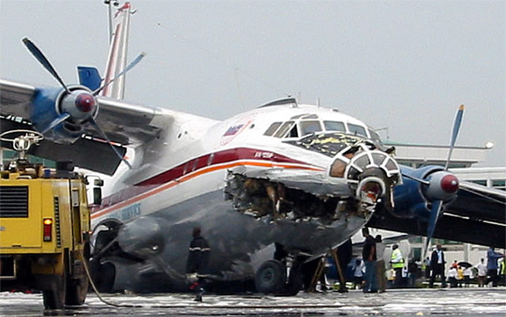 russian cargo plane crash