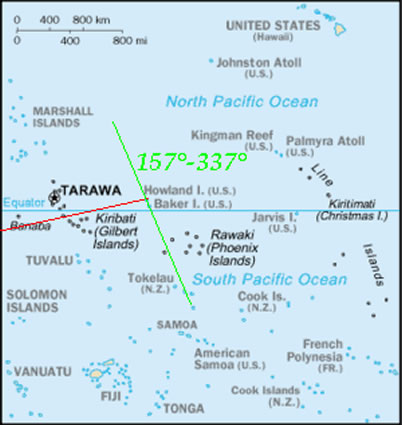 amelia earhart map of her flight across pacific ocean