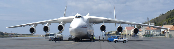 AN-225 on runway refueling
