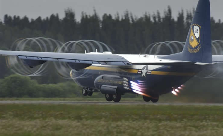 blue angels fat albert c-130 aircraft