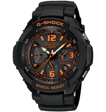 G Shock By Casio Gw3000b-1a Aviation Mens Watch Orange Color