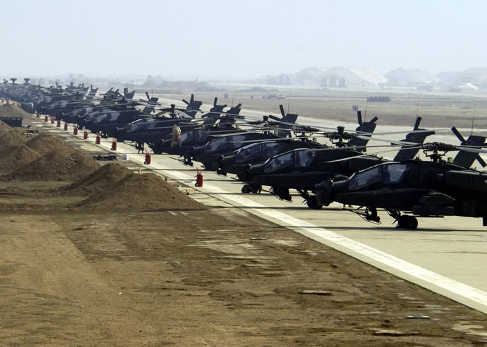 Hundreds of Apache Helicopters In Iraq