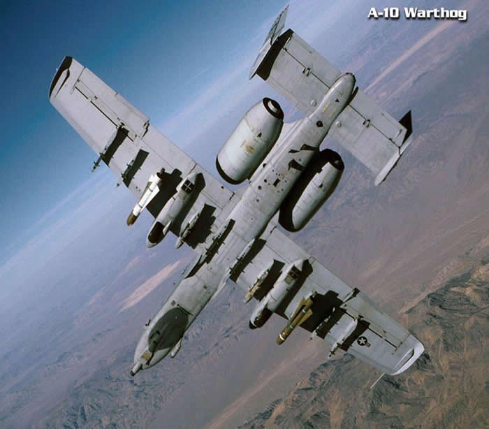 A-10 Thunderbolt Warthog Underbelly Bomb View