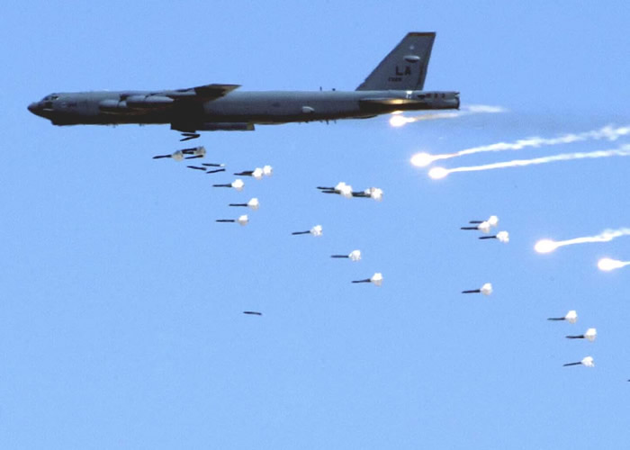 Boeing B-52 Bomber Carpet Bombing
