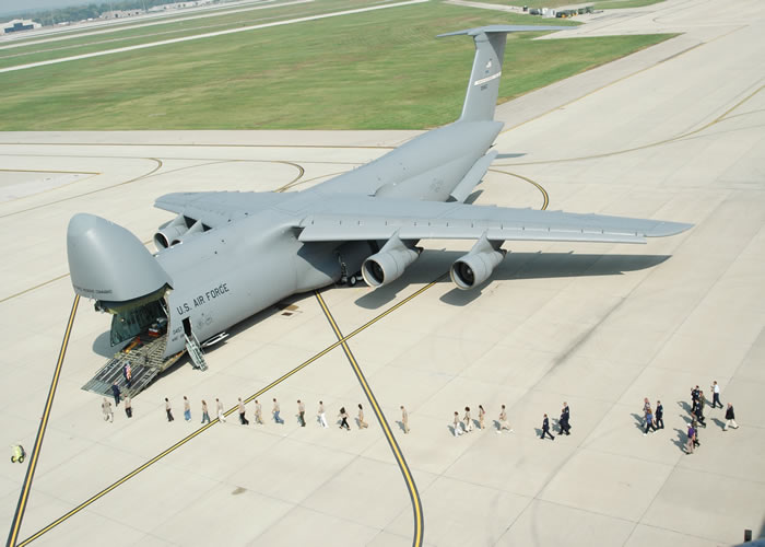C-5 With Nose Cargo Door Open