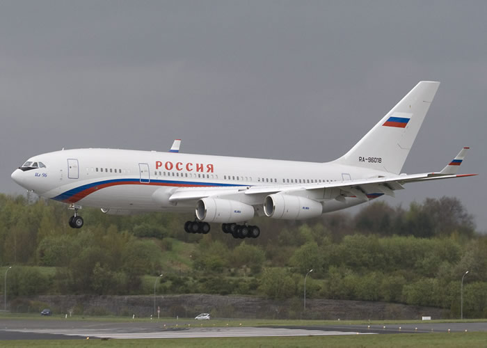 IL-96 Russian Airliner 4 engine jet