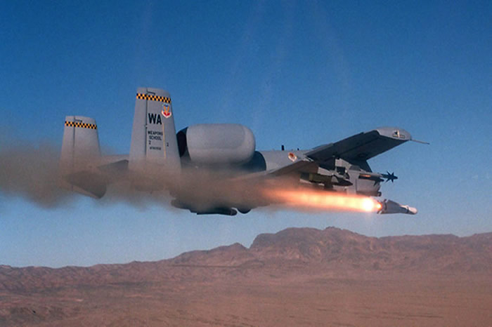 USAF A-10 Launching Laser Guided Projectile