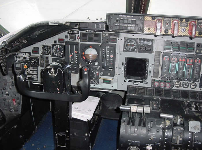 Pilots Seat and Controls On The C-141 Starlifter