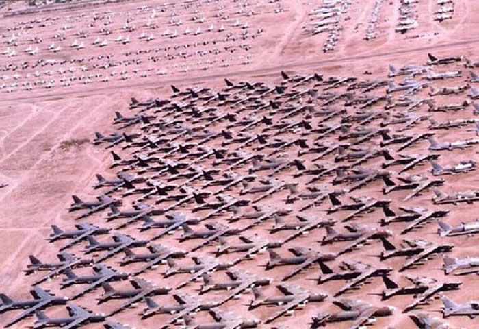 Boeing B-52 Graveyard in Tucson Arizona