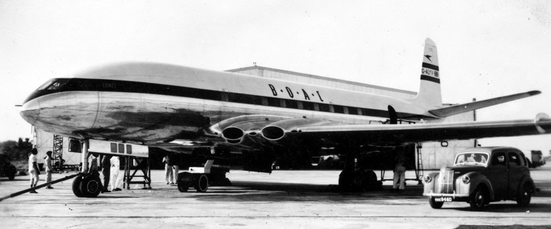 de havilland comet dh-106 airplane BOAC