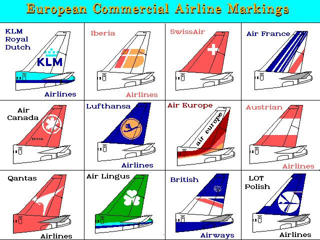 european commercial airline markings