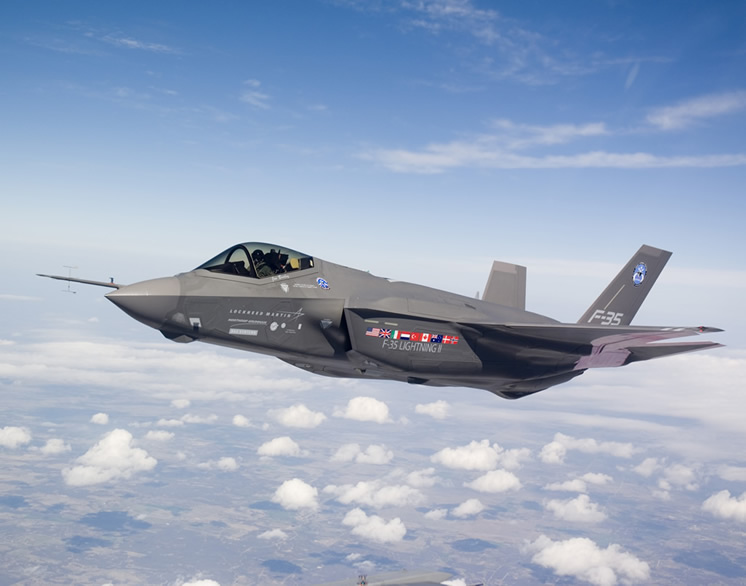 lockheed martin f35 fighter in flight