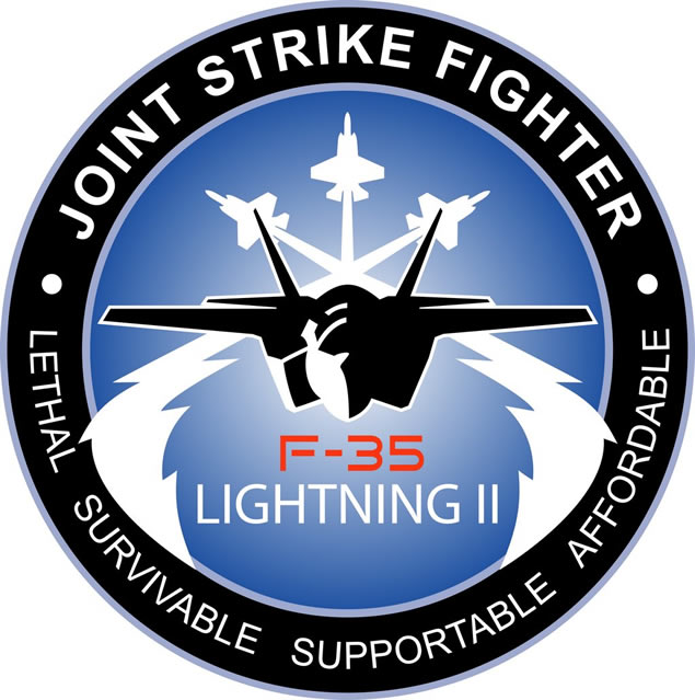 F35 Fighter Aircraft Logo