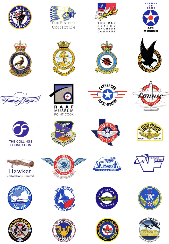 Aircraft Museums And Aviation Organizations Logos