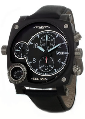 Sector Aviation Pilot Compass Mens Flight Watch
