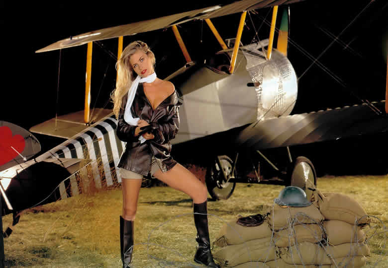 Sopwith Camel with a hot female