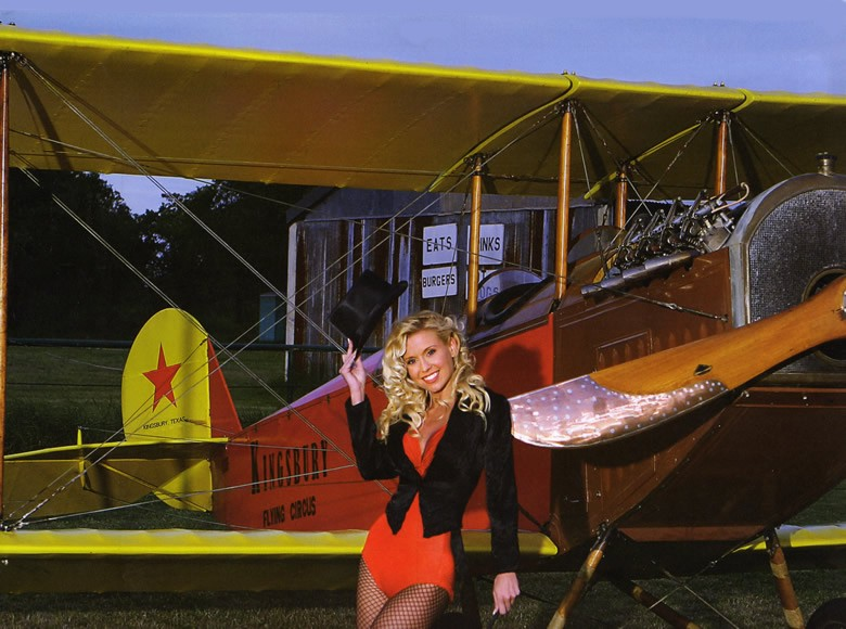 beautiful girl with sopwith camel