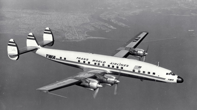 Vintage TWA Airline Lockheed Constellation CONNIE
