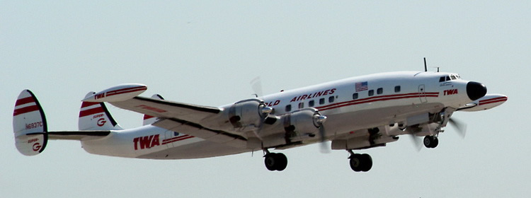 TWA Airlines Lockheed Constellation 4 Prop Airliner