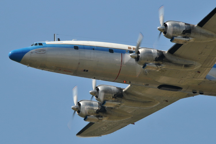 Lockheed Constellation In Flight