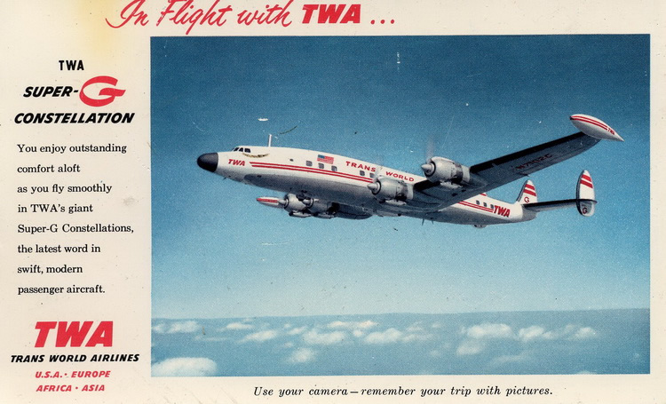 TWA VIntage Lockheed Super-G Constellation
