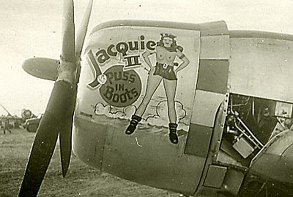 jacquie II puss n boots aircraft noseart
