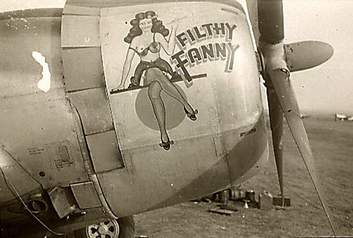 filthy fanny aircraft nose art