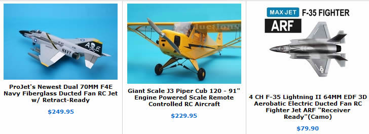 ducted fan RC aircraft on sale