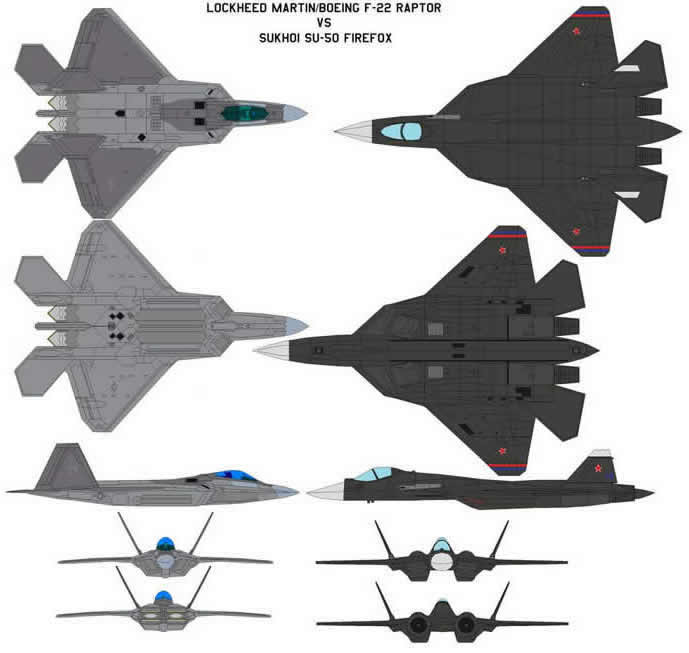 su-50 firefox vs f-22 raptor
