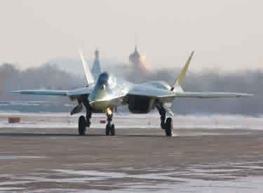 russian sukhoi SU-50 fighter jet