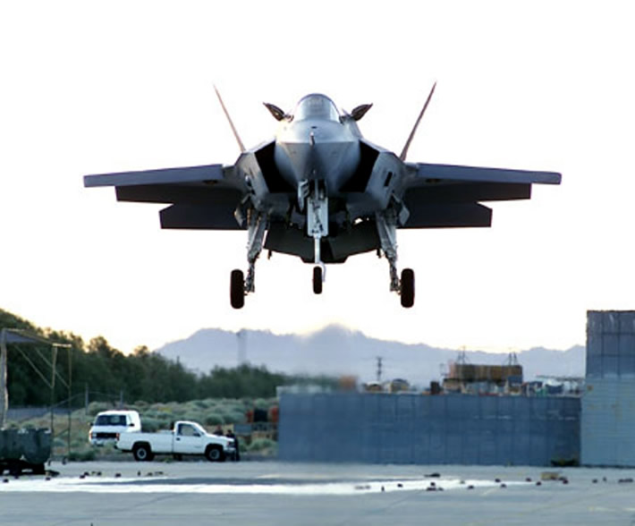 F-35 Making First Vertical Landing