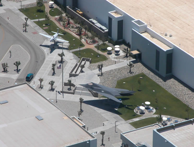 Lockheed Skunk Works building in Palmdale California