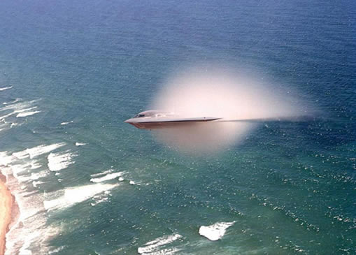 B-2 Stealth Fighter Hitting the Sound Barrier