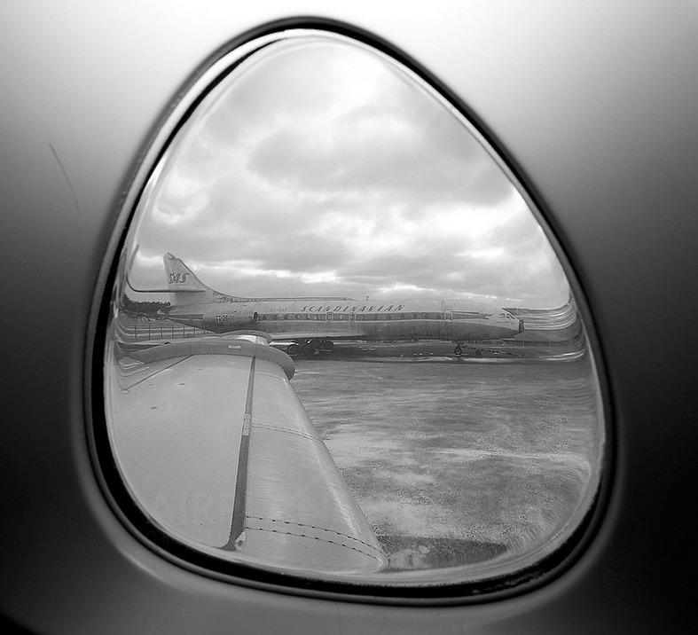 Sud Caravelle Aircraft Out The Window View