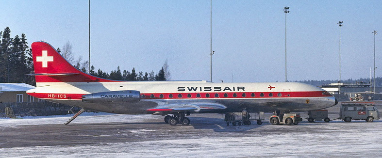 SwissAir Sud Caravelle Aircraft