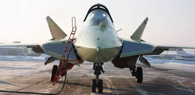 close-up nose photo of sukhoi stealth