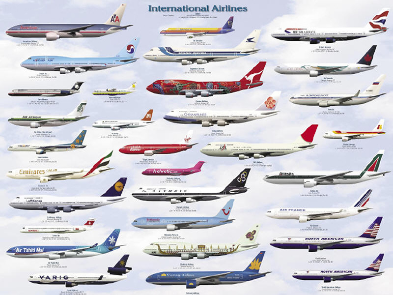 INTERNATIONAL AIRLINES CHART