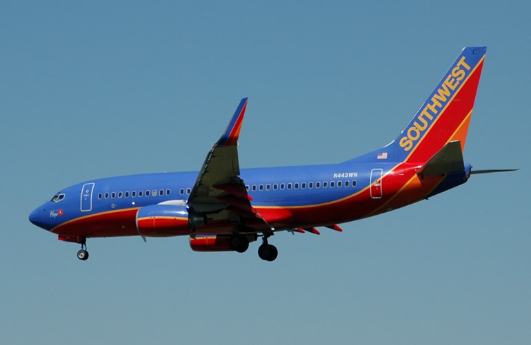 Southwest Airlines Boeing 737 With Winglets for Fuel Efficiency