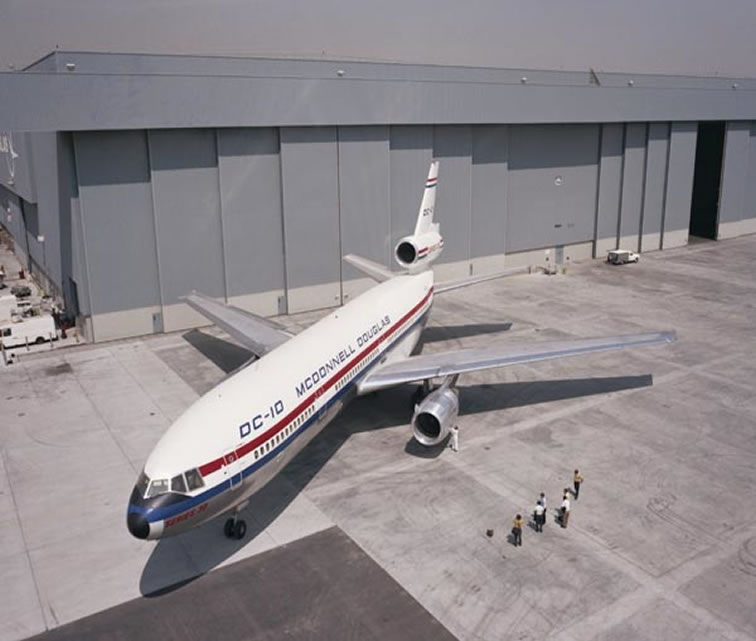 the rollout of the new DC-10