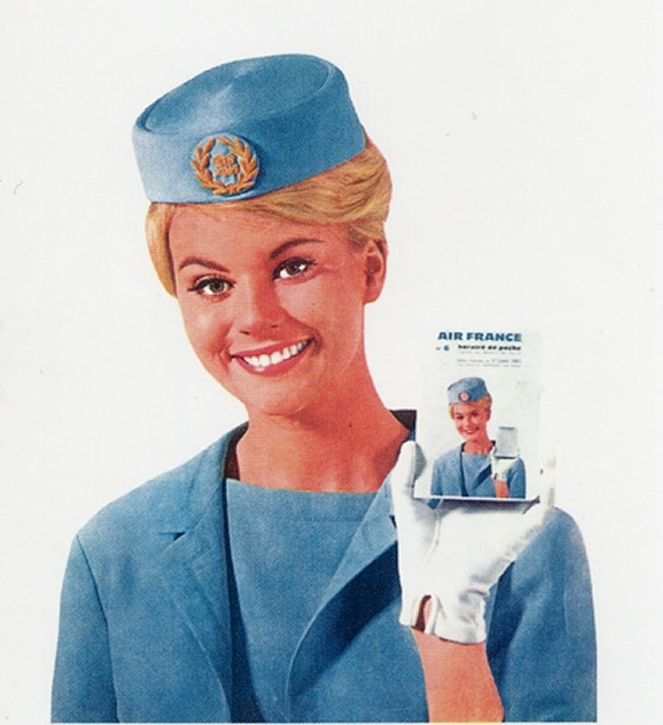 Vintage Air France Airlines Stewardess Picture