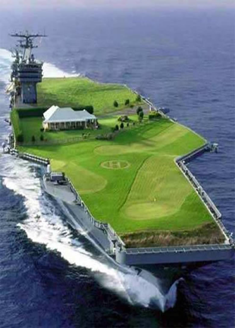 aircraft carrier golf course