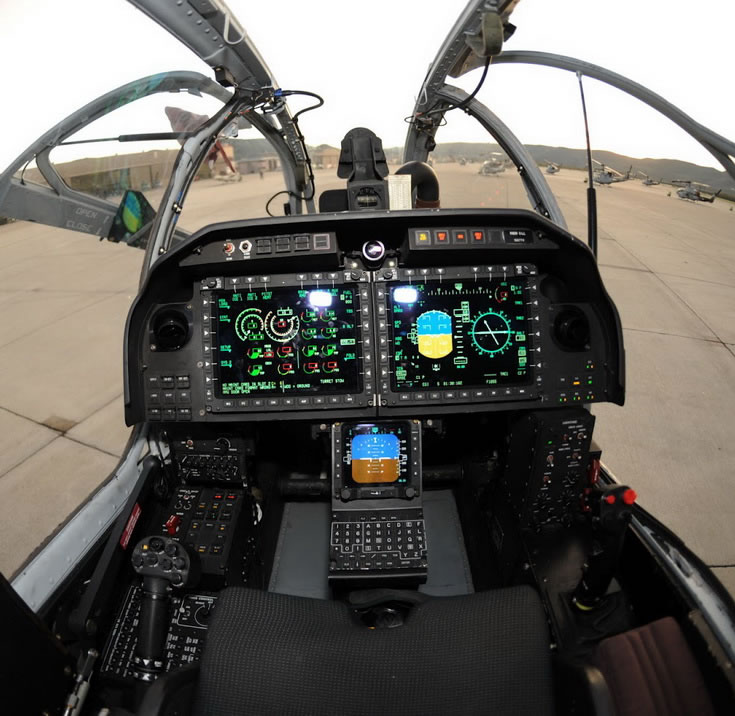 Bell AH-1 Attack Helicopter Cockpit Photo