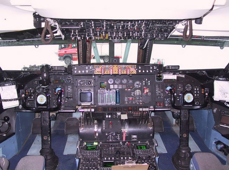 C5 Galaxy Air Force Cargo Aircraft Cockpit Photo