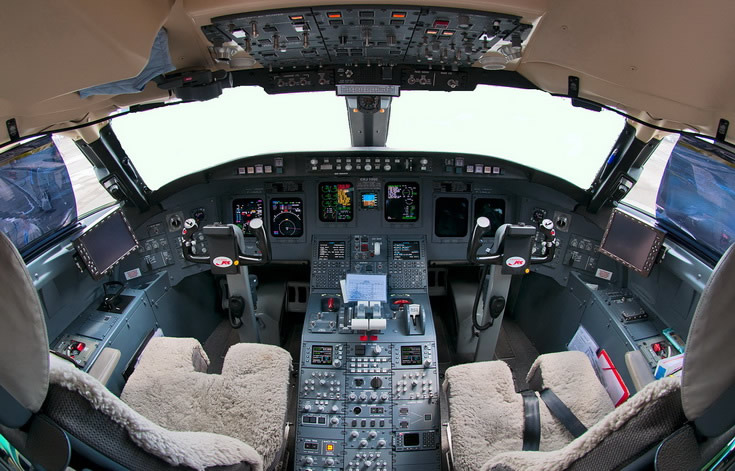 CRJ-1000 Regional Aircraft Cockpit Photo