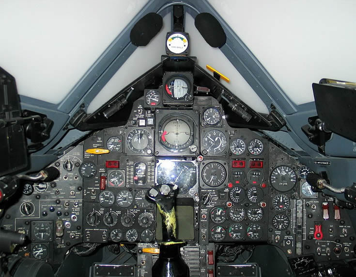 SR-71 Spy Plane Jet Cockpit Photo
