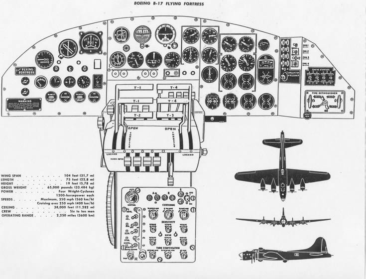 b-17 flying fortress cockpit schematic