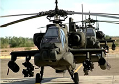 army apache helicopter in flight
