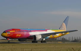 boeing 777 in amazing color scheme