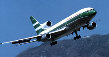 Cathay Pacific lockheed L-1011 Airliner